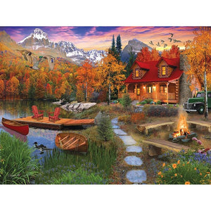Old Mountain House Landscape Full Drill Diamond Painting Alisa Diamond Paintings