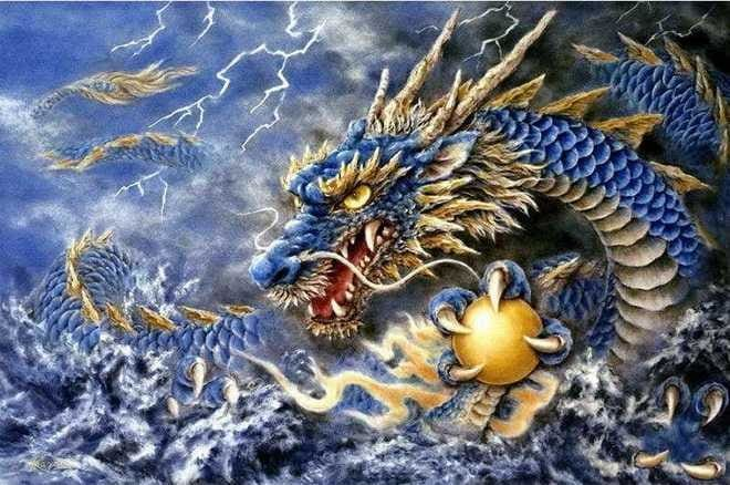 Blue Dragon Full Square Drill Diamond Painting Kit Alisa Diamond Paintings