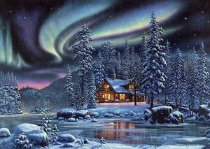 Full Diamond Painting Embroidery Kit Winter Night Landscape Alisa Diamond Paintings
