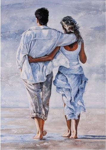 Happy Couple Drawing - Diamond Painting ALISA Diamond Paintings