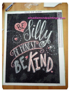 Chalkboard Quotes 2 Full Square Beads Diamond Painting Kit