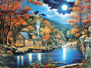 Mountain House Diamond Painting Picture ALISA Diamond Paintings
