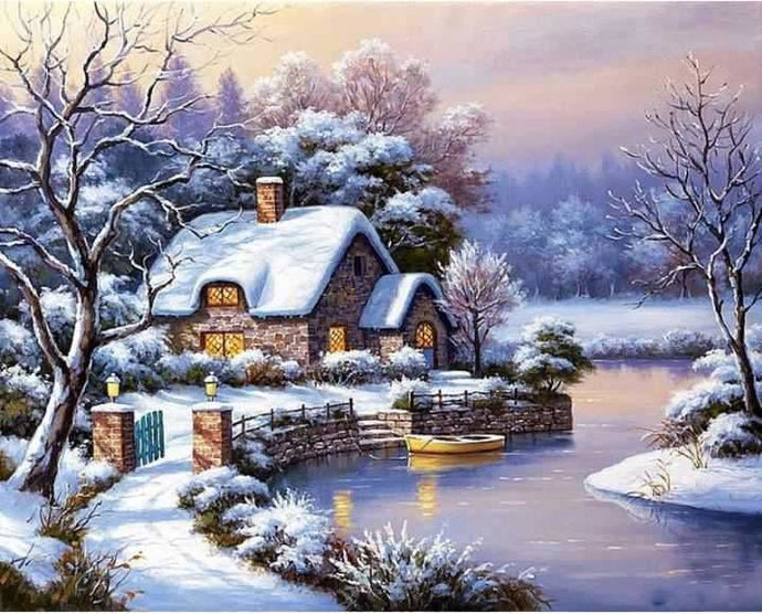Old Cottage Full Coverage Diamond Painting Kit ALISA Diamond Paintings