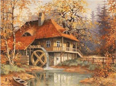 Old Mill Paint With Diamonds Kit Alisa Diamond Paintings