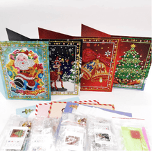 Paint With 5D Diamond Painting Christmas Greeting Cards Kit - Set of 4 Cartoon Alisa Paintings