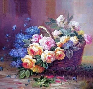 Spring Flowers In Basket Full Square Drill Diamond Painting Alisa Diamond Paintings
