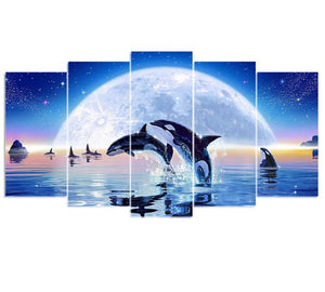 Dolphins Multi Picture Composition Abstract Full Drill Diamond Painting Alisa Diamond Paintings
