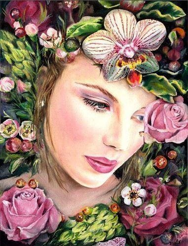 Diamond Painting Kits Portrait In Flower Alisa Diamond Paintings
