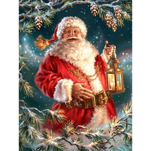 Full Diamond Painting Kit Christmas Theme Santa Claus Alisa Diamond Paintings