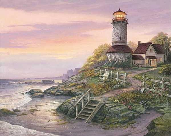 Full Diamond Painting Lighthouse Landscape Alisa Diamond Paintings