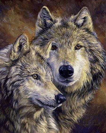 Full Drill Diamond Painting Embroidery Wolf Kit Mountain Wolves Alisa Diamond Paintings