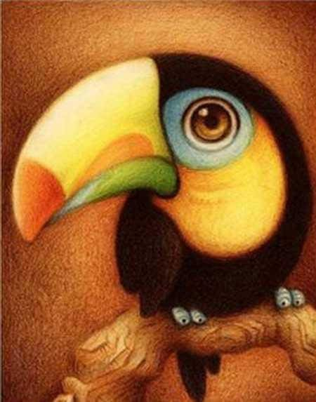 Cute Black Parrot Kids Room Animal Pattern Diamond Painting Kit Alisa Diamond Paintings