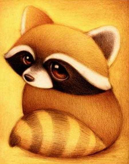 Small Raccoon 5D Diy Diamond Painting Alisa Diamond Paintings