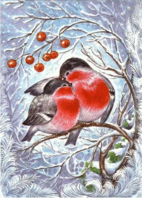 Winter Scene Full Drill 5d Diamond Painting Birds Animals Alisa Diamond Paintings