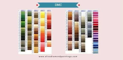 What Is DMC In Diamond Painting Cross Stitch DMC Floss 447 Standard Colors