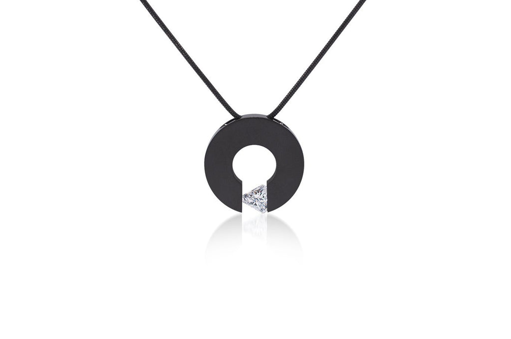 Malfinia Black Anodized Stainless Steel Necklace