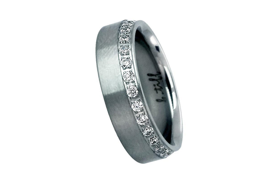 B. Tiff Offset Stainless Steel Eternity Ring