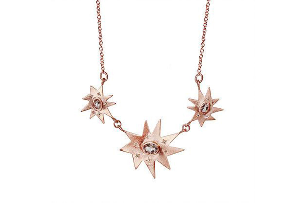 Rose Gold Piccolo Grand Stella Necklace- Emily Kuvin