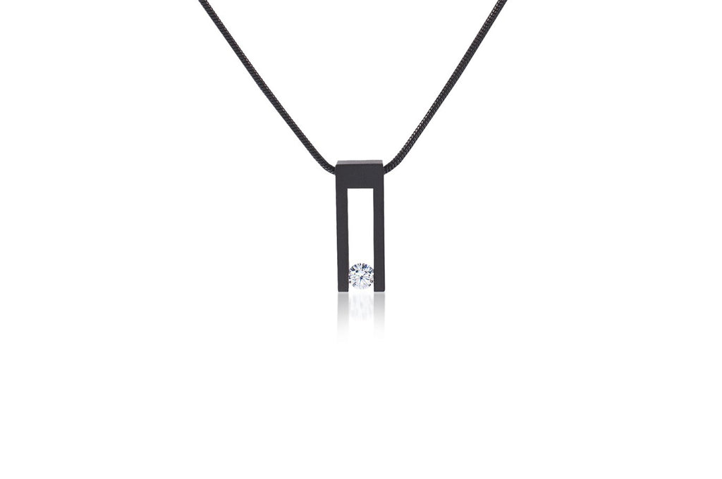 Kava Black Anodized Stainless Steel Necklace