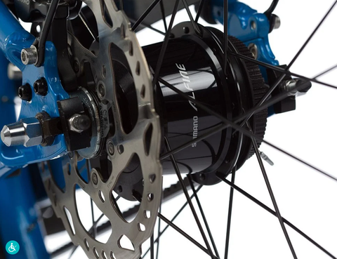 8-speed internally geared hub provides shifting that's as smooth as butter