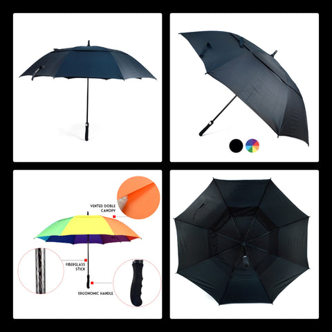 Double Canopy Vented Umbrella - UM5034