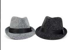 Fall/Winter Trilby Fedora Hat with Black Band