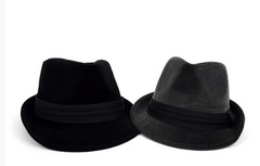 Fall/Winter Trilby Fedora Hat with Black Band Trim