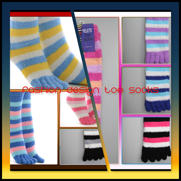 Fashion Design Toe Socks