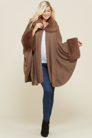 OUTERWEAR - CAPE Brown