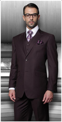 Three Piece Regular Fit Very Dark Purple pastel color