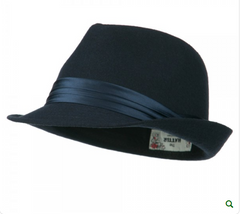Fedora with Pleated Satin Band