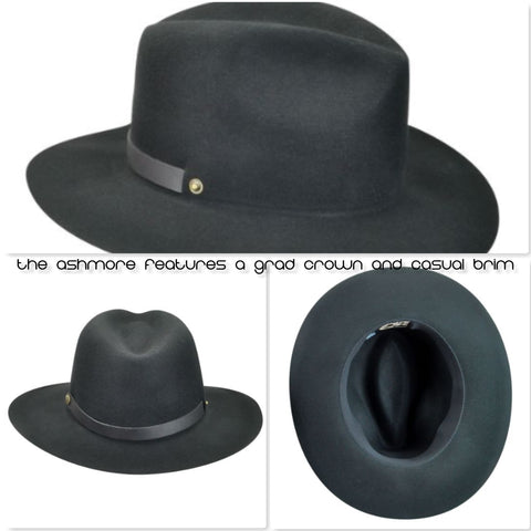 The Ashmore features a Grad Crown and Casual Brim