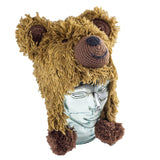 Adorable Hand Knit Kids Animal Hats Grizzly