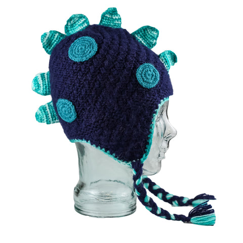 Adorable Hand Knit Kids Animal Hats Dino