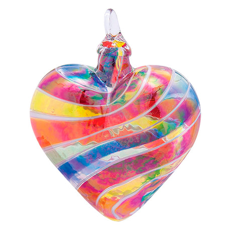 Designer Heart Ornament Rainbow - USA