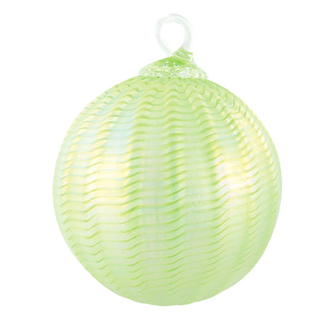 Handblown Glass Ornament Honeydew Sorbet