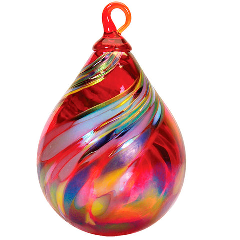 Heirloom Quality Holiday Swirl Raindrop Ornament