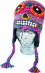 Teen/Adult Hand Knit Adventure Hat Sugar Skull