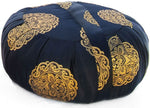 Zafu Yoga & Meditation Cushion Black w/Gold