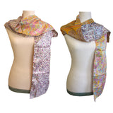 Double Sided Silk Scarf - 5  Multi Pastel Floral