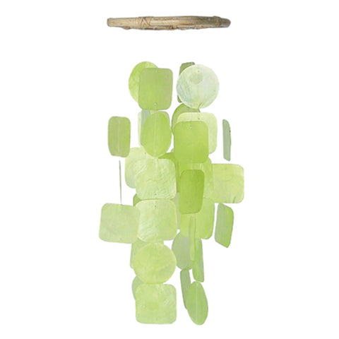 Capiz Shell Wind Chime - Cool Green