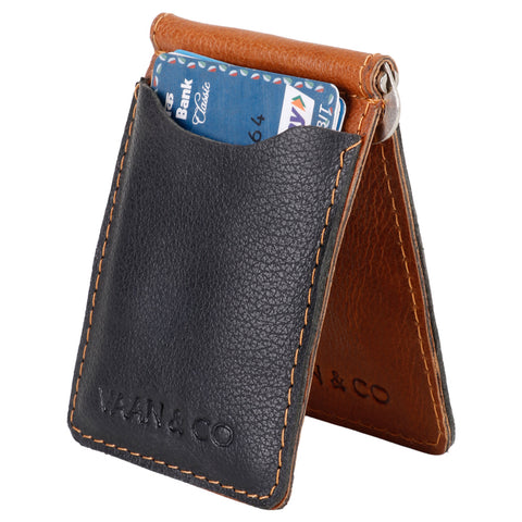 Upcycled Leather Money Clip & Credit Card Holder