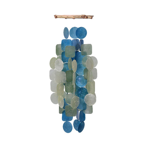 Capiz Shell Chime – Green Blue Medium