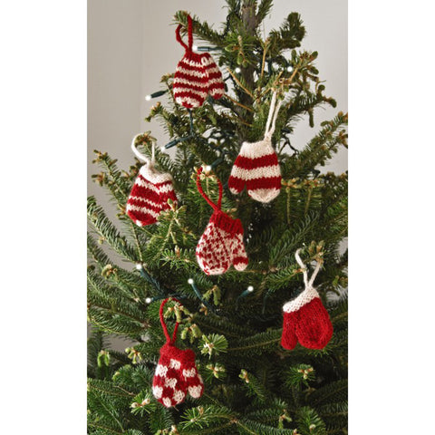 Mini Mitten Ornament Set of Six