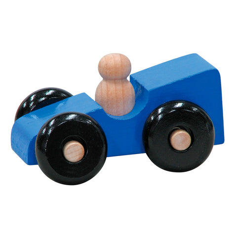 Handcrafted Wooden Car Toys Blue Sports Car