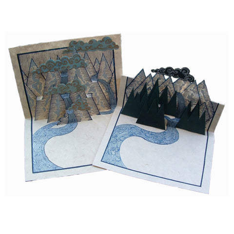 Pop-Up Mountain Set of Six Cards & Envelopes