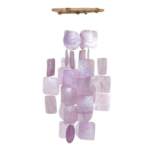 Capiz Shell Wind Chime - Small Lilac