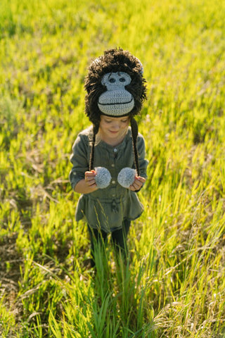 Adorable Hand Knit Kids Animal Hats Gorilla