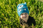 Fun Hand Knit Kids Monster Hat - Bally