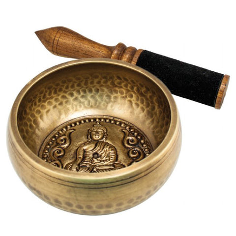 Singing Bowl with Leather Striker: Wisdom of Buddha